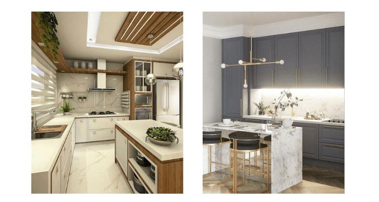 Cozinha cores neutras