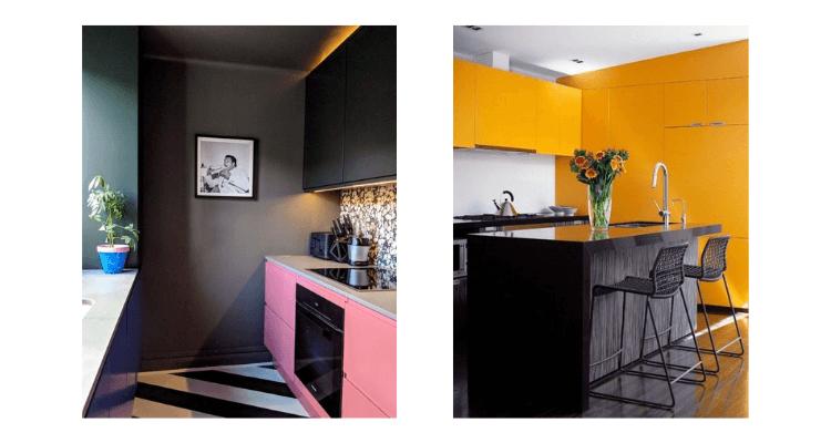 Cozinha cores quentes