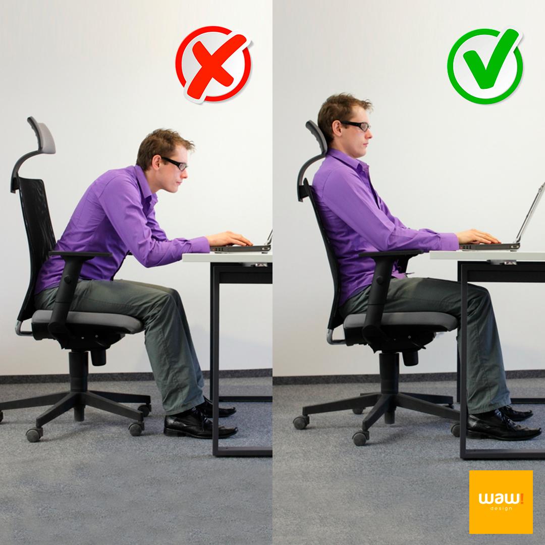 Males que a má postura na cadeira pode causar