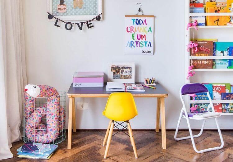 Como montar um cantinho de estudo para crianças em casa