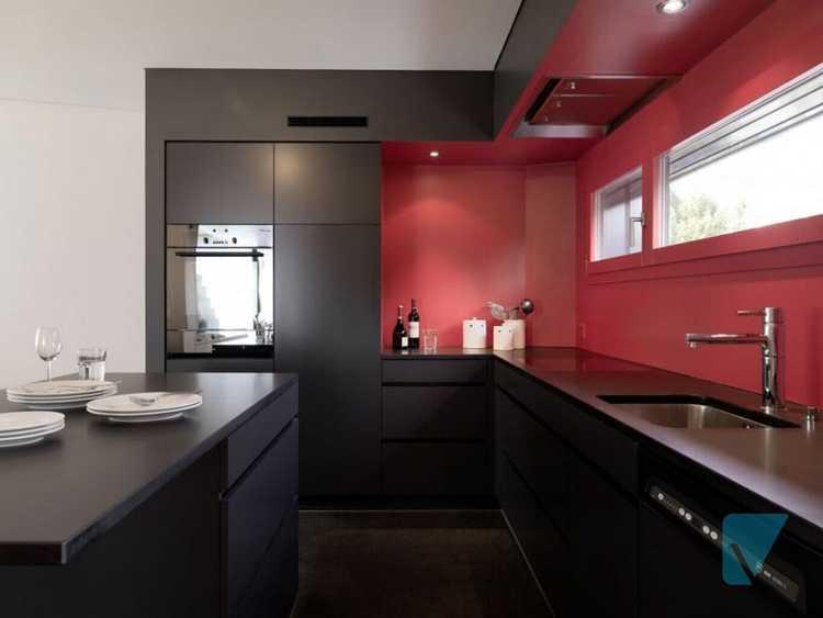 Cozinha vermelha e preta: ideias de decoração