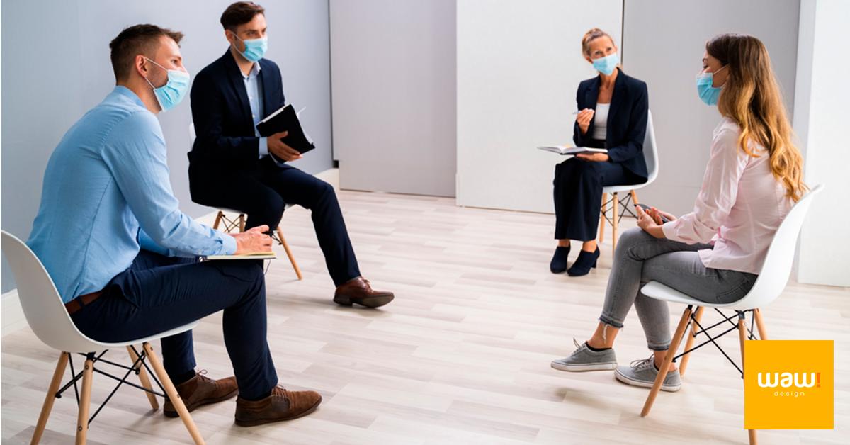 Importância do distanciamento das cadeiras no escritório